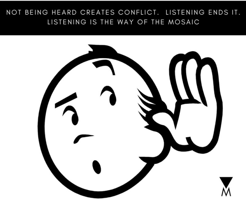 NOT BEING HEARD CREATES CONFLICT. LISTENING ENDS IT.-2